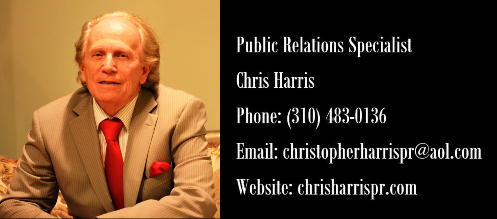 Chris Harris Publicist Contact Info Image