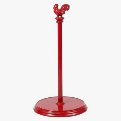 Engrossing Red Paper Towel Holder