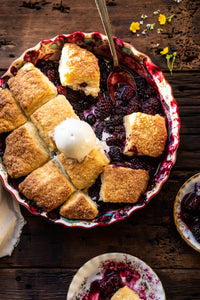 Blackberry Lavender Cobbler.