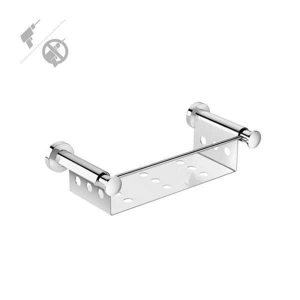 Pomdor Kubic Self Adhesive Corner Chrome Soap Dish Holder Tray Soap Holder