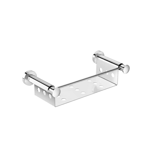 Pomdor Kubic Wall Mounted Rectangular Chrome Soap Dish Holder Tray Soap Holder