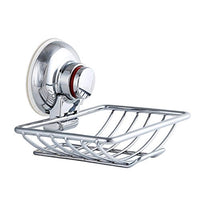 Od-sport Vacuum Suction Soap Dish Holder - Anti-Loose Warning Rubber Suction Cups, Sink Sponge Caddy Organizer,Stainless Steel Silver Wire Storage Basket Hooks Bathroom,Kitchen,Washroom