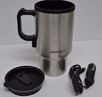 12v Stainless Steel Travel Heated Thermos Coffee Mug Cup with Car Charger