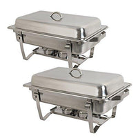 Amazon super deal 8 qt stainless steel 4 pack full size chafer dish w water pan food pan fuel holder and lid for buffet weddings parties banquets catering events 6