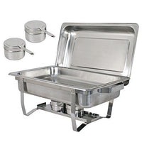 Try super deal 8 qt stainless steel 4 pack full size chafer dish w water pan food pan fuel holder and lid for buffet weddings parties banquets catering events 6
