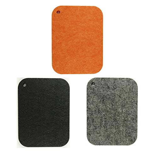 Kasego Felt Coasters of 2 pcs Absorbent Felt Trivet for Pot and Pans Pot Holders for Kitchen, Protects Your Table & Desk 7.9in5.9in (Square) (3 Colors)?MPT?