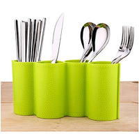 Kitchen Utensil Holder by Latom, Cooking Utensil Caddy, Silverware Spatula Cookware and Chopsticks Drying Cutlery Holder Storage Organizer(Green)