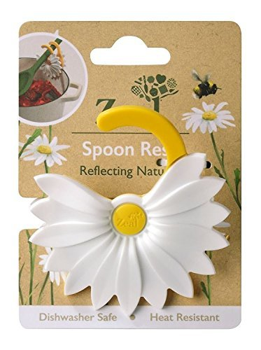 Zeal Daisy Clip-to-Pan Spoon Rest Utensil Holder by Zeal