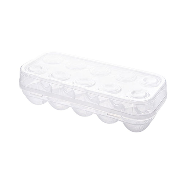 YOHA Clear Egg Storage Box Delicate 6 Girds Egg Dispenser Holder Case Refrigerator Crisper Camping Picnic Travel Portable Egg Carriage Clear-10