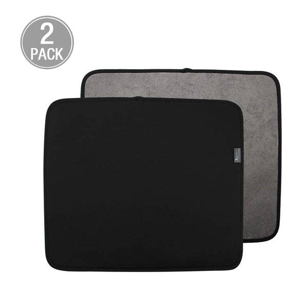 Y.VN 16 by 18-Inch Microfiber Dish Drying Mat -2 pack, Black