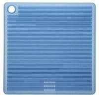 Mastrad Silicone Pot Holder - High Heat Resistant Trivet is Dishwasher Safe and Featured Double-Sided Non-Slip Ridges For Ultimate Gripability, Blue