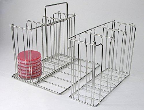 "UNICO 44525 Culture Plate Caddy, Stainless Steel, Stackable, 11.25"" Height, 13"" Width, 9.5"" Length"