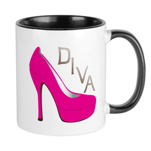 CafePress Shoe Diva Mug Unique Coffee Mug, Coffee Cup