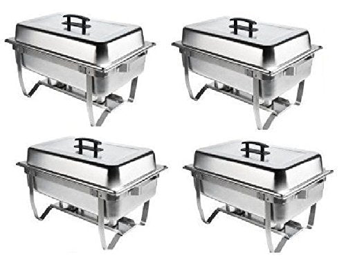 Chafer 4 Pack Premier Choice Stainless Steel Chafer Dish 8 Qt Capacity 4 Pack Quantity 4