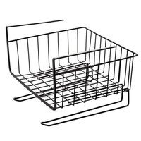 AIYoo Under Shelf Basket 2 Pack Kitchen Organizer Baskets Wire Storage Rack with Paper Towel Holder for Kitchen Cabinets,Bathroom,Wardrobe,Office Desk,Space Save Under Shelves for Extra Storage Basket