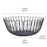 Best creative wire fruit dish basket bowl modern large black decorative table centerpiece holder for kitchen counters living room 10 62 inch petals