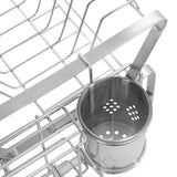 SMIO 2-Tier Dish Rack - 304 Stainless Steel Dish Drying Rack with Drainboard