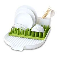 ALPHELIGANCE Kitchen Sink Dish Drainer Tot Bottle Accessories Drying Rack With Drainboard 3-Piece Set