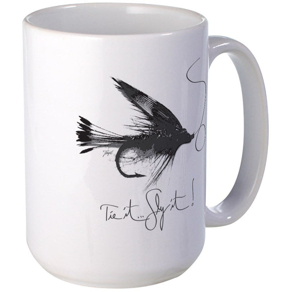 CafePress Tie It, Fly It! Large Mug Coffee Mug, Large 15 oz. White Coffee Cup