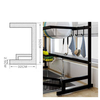 Explore dish drainer rack holder black stainless steel kitchen rack sink sink dish rack drain bowl rack dish rack kitchen supplies storage rack 95cm