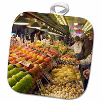 "3D Rose Washington-Seattle. Pike Place Market-Us48 Csl0037-Charles Sleicher Pot Holder, 8"" x 8"""