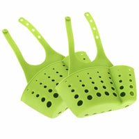 Kitchen Sink Storage Basket Sponge Holder Bathroom Soap Hanging Shelving Rack Drain Faucet Storage Pail Shelves Organizer - Pack of 2 (Green-Facet)