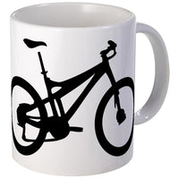 CafePress - Black Mountain Bike Bicycle Mug - Unique Coffee Mug, Coffee Cup