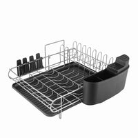 HOMELODY Dish Rack, 2 Tier Dish Rack With Drainboard, 304 Stainless Steel Dish Drainer for Kitchen Counter Dish Drying Rack Large Capacity