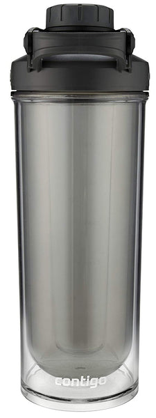 Contigo Shake & Go Fit Double-Wall Twist Lid Shaker Bottle, 24 oz, Black