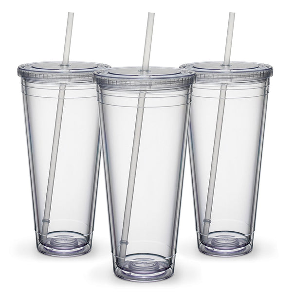 Maars Insulated Travel Tumblers 32 oz. | Double Wall Acrylic | 6 Pack
