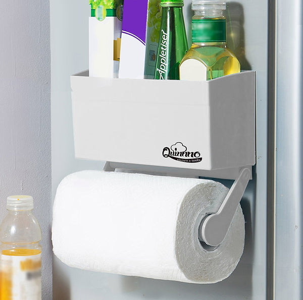 My Refrigerator Rack | 2 Pcs Strong Magnetic Fridge Paper Towel Holder to Hold Regular Large Sized Roll | Superb Kitchen Space Rack Shelf Storage for Plastic Wrap Aluminum Roll | 799.2