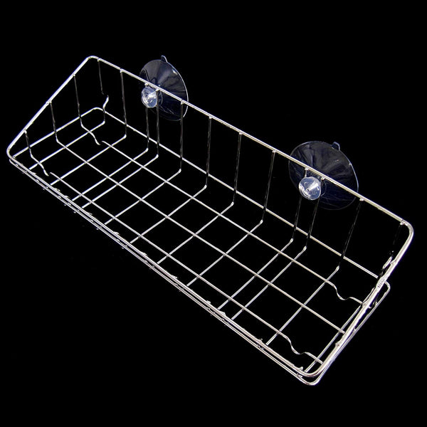 Large Stainless Wire Net Dish Washing Sponge Suction Cup Holder Scrubber Sink Rack