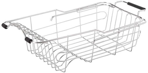 Dish Drying Rack Drainer By JHJ Homegoods In Sink Stainless Steel Kitchen Drainers | Rust Proof Antimicrobial Expandable Adjustable Extension Heavy Duty Holder Counter Space Saver