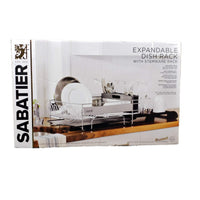 Sabatier Expandable Dish Rack With Stemware Rack Rust-Resistant