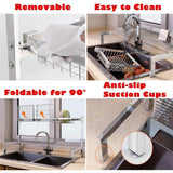 Discover the best cabina home dish drying rack over the sink stainless steel large dish rack stand drainer for kitchen supplies counter top storage shelf utensils holder silver for double sink