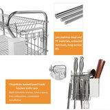 NEX HT-KC815S-M 3-Tier Stainless Steel Dish Drainer Rack 22.2 (L) x 9.4 (W) x 20.3 (H),