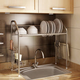 1208S Stainless Steel Over Sink Drying Rack Dish Drainer Rack&Kitchen Organizer (Single Groove-Single-layer)