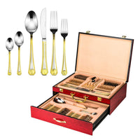 Selection joseph sedgh collection 18 10 stainless steel 75 piece silverware flatware cutlery set dishwasher safe includes dinner spoon fork knife dessert fork mocha spoon 3 serving utensils