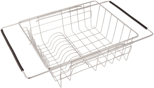 Just Manufacturing JEDD-1375115 Stainless Steel Adjustable In Sink Dish Rack with Extendable Arms