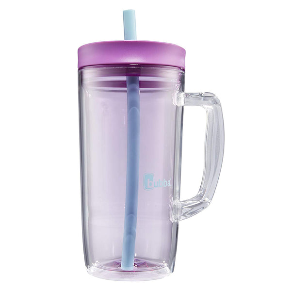 Bubba Envy Double Wall Insulated Straw Tumbler with Handle, 32 oz, Purple/Blue