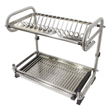 Probrico Wall Mounted Dish Drainer Rack Stainless Steel 23.6 inch Dish Drying Rack Plates Bowls Storage Organizer Holder