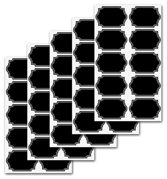 Firefly Craft Heavy Duty Chalkboard Labels for Spice Jars and Organizing, Large 60 Pack