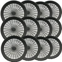 "Budays Mart: Pack of 12- 9"" Reusable Black Plastic Paper Plate Holder"