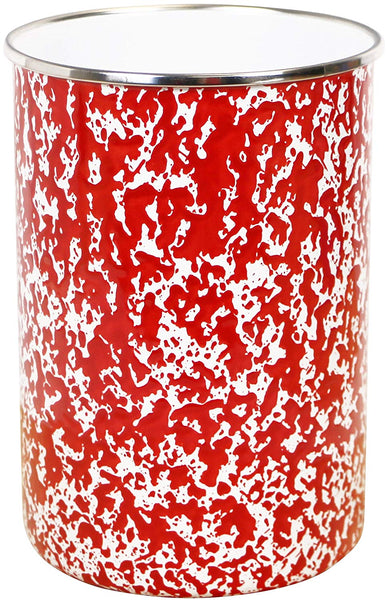 Calypso Basics Marble Enamel Utensil Holder, Red
