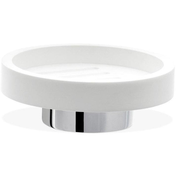 DWBA Round Bathroom Soap Dish Holder Tray Soap Holder, Soap Saver, Solid Surface
