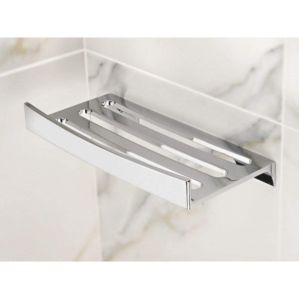 Lux Firenze Wall Mounted Chrome Soap Dish Holder Tray Soap Holder, Brass