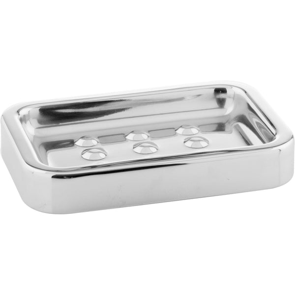 CP Steel Rectangular Soap Dish Holder Tray Soap Holder, Stainless Steel