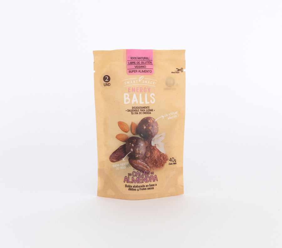 Caja 12 Envases individuales Energy Ball Cacao - Almendra