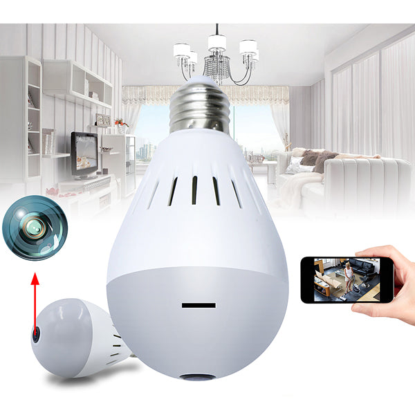 Wireless HD 1080P Light Bulb w/ Camera