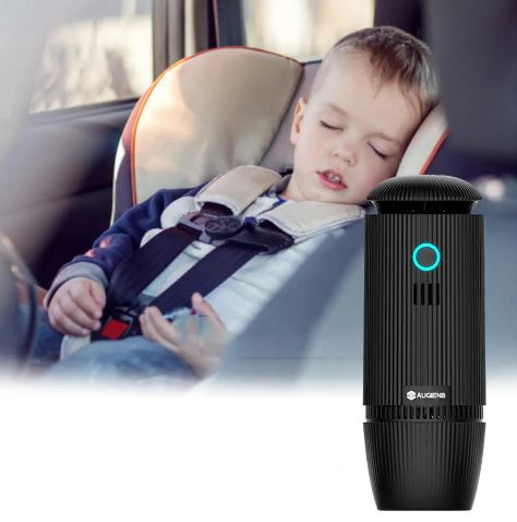AUGIENB Car Air Purifier With HEPA Filter Portable Humidifier Aromatherapy Diffuser